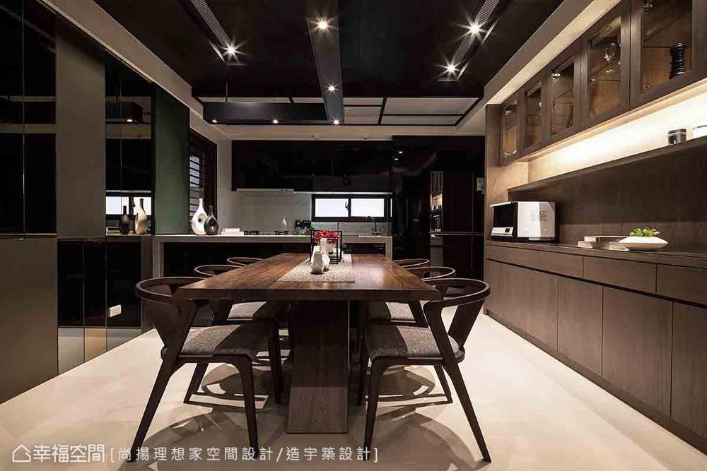 三居 现代 餐厅图片来自幸福空间在层迭馨暖 渲染165平沉稳静谧宅的分享