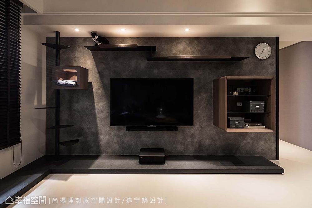 三居 现代 客厅图片来自幸福空间在层迭馨暖 渲染165平沉稳静谧宅的分享