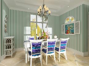 地中海 二居 收纳 小资 餐厅图片来自阳光力天装饰在力天装饰-尚港华府-89.5㎡的分享