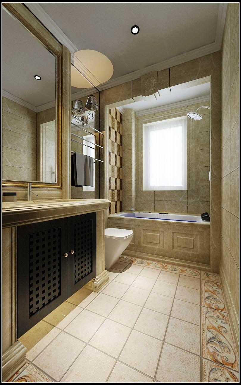 卫生间图片来自石家庄大业美家装饰在江南新城380平—新古典风格的分享