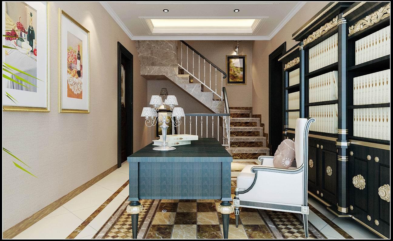 书房图片来自石家庄大业美家装饰在江南新城380平—新古典风格的分享