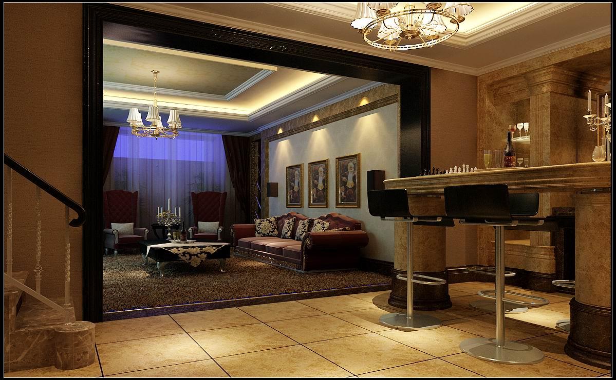 楼梯图片来自石家庄大业美家装饰在江南新城380平—新古典风格的分享