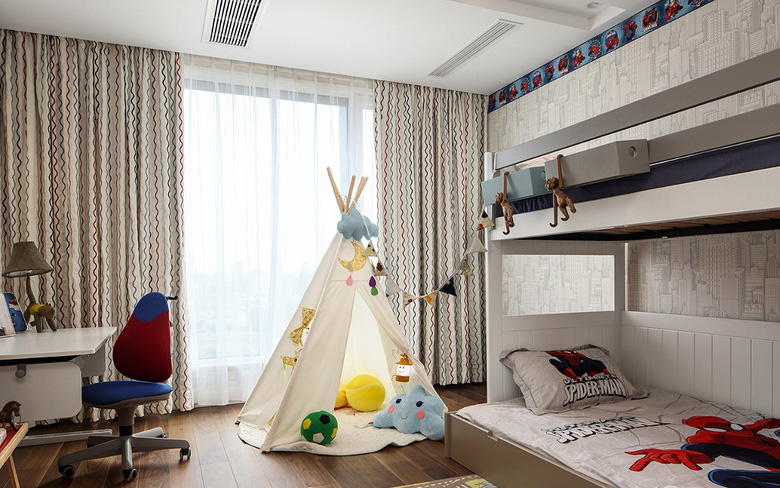儿童房图片来自家装大管家在优雅时节 145平古典混搭时尚3居的分享