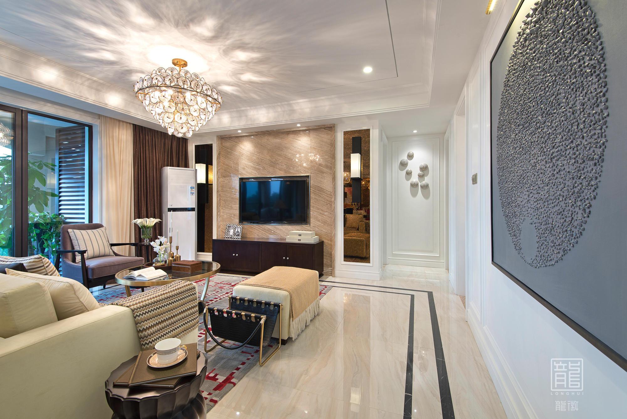 客厅图片来自龙徽设计在风华内敛的摩登绅士的分享
