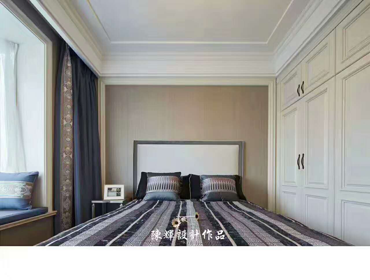 卧室图片来自日升嬛嬛在西市佳境四居室现代美式风格装修的分享