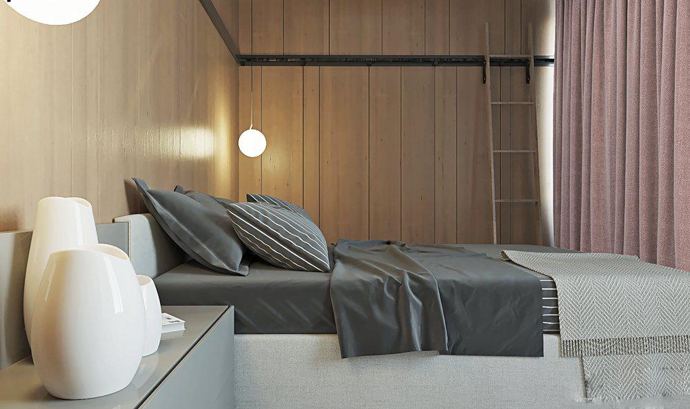 工业风 别墅 白领 旧房改造 高度国际 卧室图片来自重庆高度国际装饰工程有限公司在工业风带你感受凛冽的生活气息的分享