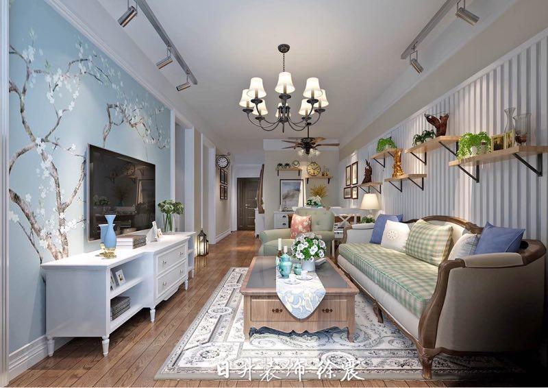 客厅图片来自日升嬛嬛在丹轩梓园两居室装修的分享