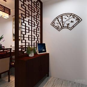 中式 新中式 二居 收纳 小资 玄关图片来自阳光力天装饰在力天装饰-海景文苑-89㎡-中式的分享