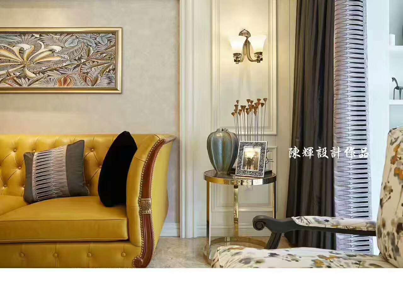 客厅图片来自日升嬛嬛在西市佳境四居室现代美式风格装修的分享