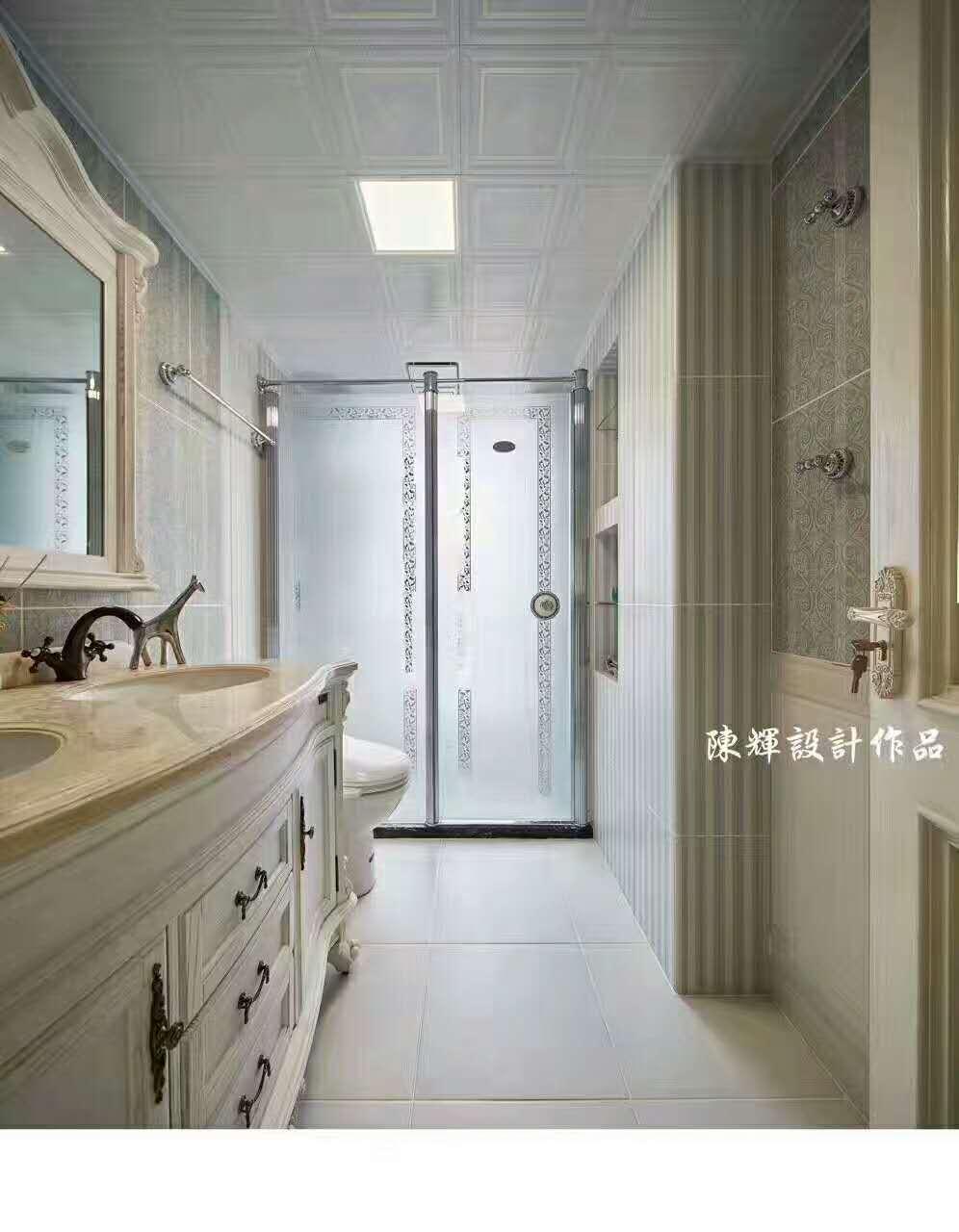 卫生间图片来自日升嬛嬛在西市佳境四居室现代美式风格装修的分享
