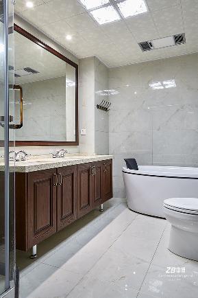 简约 混搭 三居 白领 收纳 小资 中式 卫生间图片来自中博装饰在晨光国际160方跃层大宅中国味儿的分享