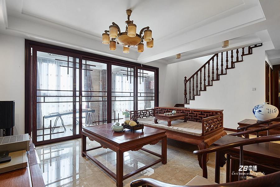 简约 混搭 三居 白领 收纳 小资 中式 客厅图片来自中博装饰在晨光国际160方跃层大宅中国味儿的分享