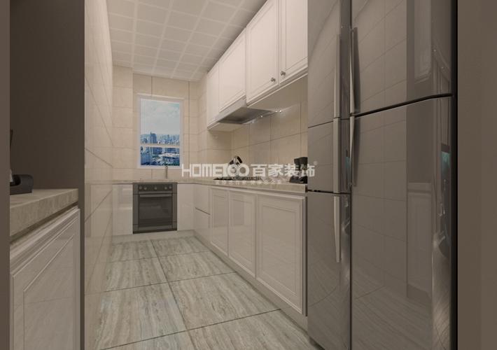 装修设计 百家装饰 案例效果图 80多平米 厨房图片来自百家装饰--小莹在现代简约风格,简单温馨的分享