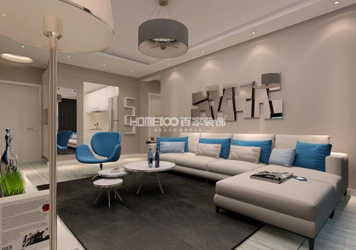 装修设计 百家装饰 案例效果图 80多平米 客厅图片来自百家装饰--小莹在现代简约风格,简单温馨的分享
