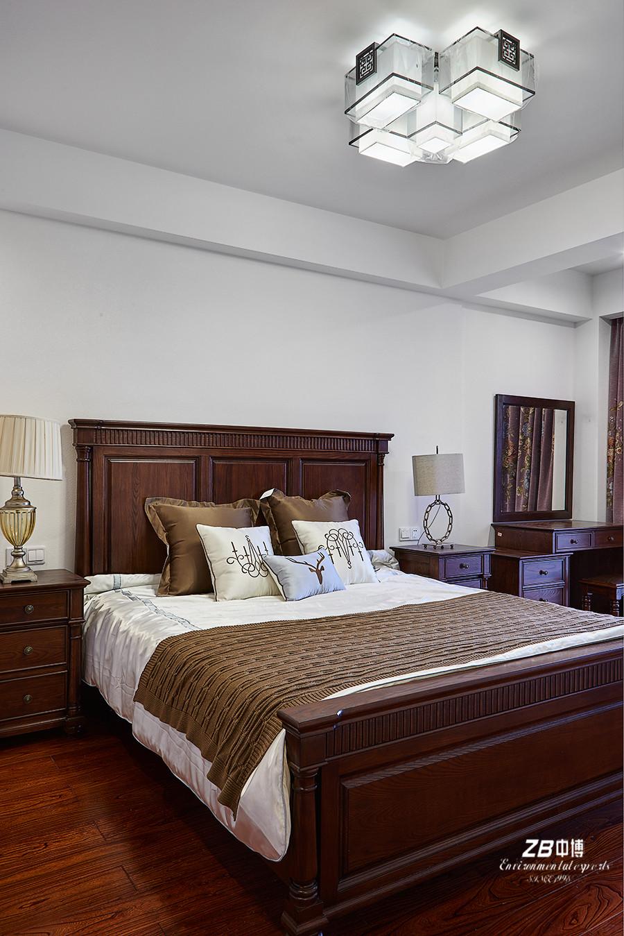 简约 混搭 三居 白领 收纳 小资 中式 卧室图片来自中博装饰在晨光国际160方跃层大宅中国味儿的分享