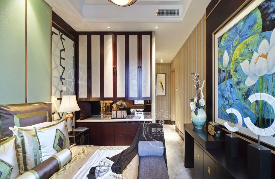 三居 卧室图片来自深圳浩天装饰在浩天装饰君汇新天-现代中式的分享