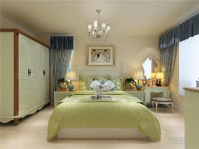 地中海 二居 收纳 小资 卧室图片来自阳光力天装饰在力天装饰-奥林公馆-128㎡-地中海的分享