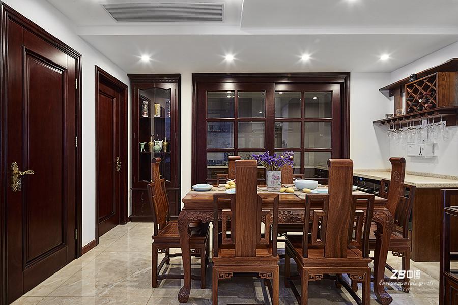 简约 混搭 三居 白领 收纳 小资 中式 餐厅图片来自中博装饰在晨光国际160方跃层大宅中国味儿的分享