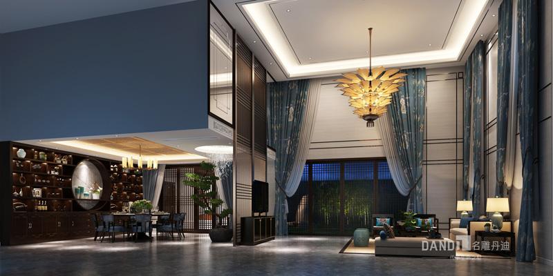 中式别墅 联排别墅 餐厅图片来自杜鸿业----名雕丹迪设计总监在万科棠樾--600平别墅的写意世界的分享