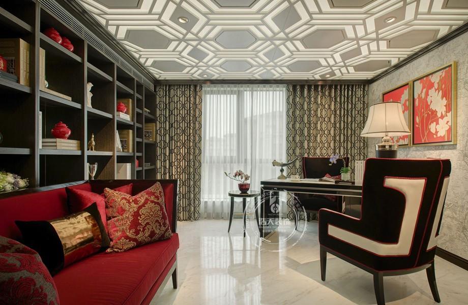 三居 书房图片来自深圳浩天装饰在浩天装饰君汇新天-现代中式的分享