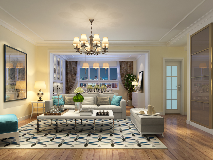 实创 三居室 简约 大尧三路 客厅图片来自快乐彩在大尧三路130平简约装修的分享