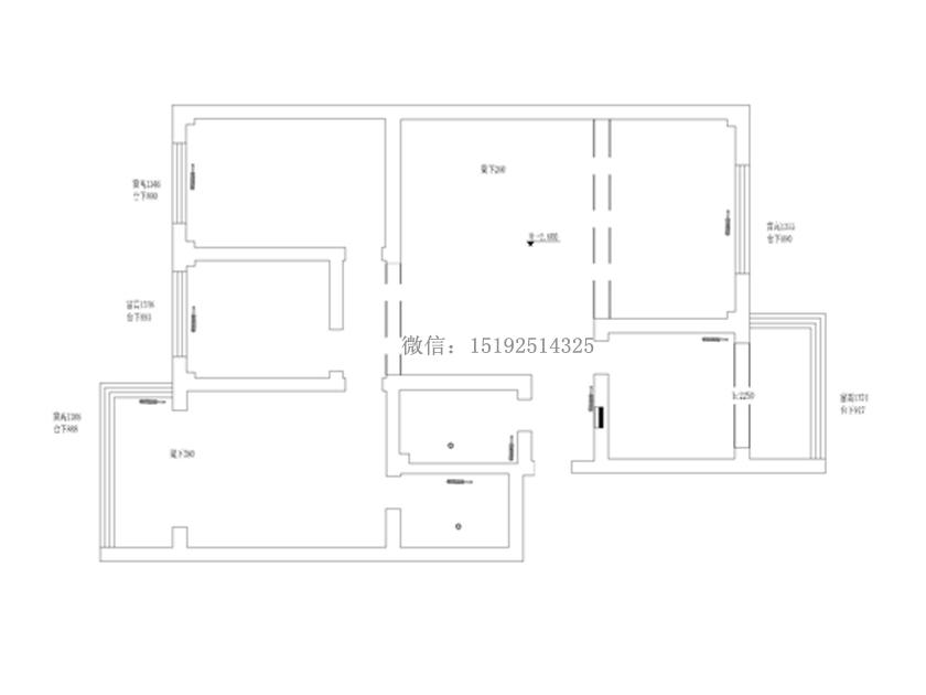 实创 三居室 简约 大尧三路 户型图图片来自快乐彩在大尧三路130平简约装修的分享
