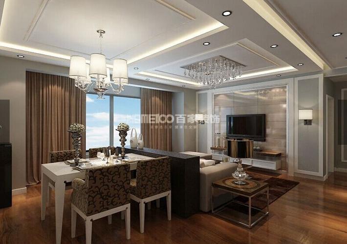 二居 客厅 餐厅图片来自百家装饰小西在保利香槟国际87平现代风格的分享