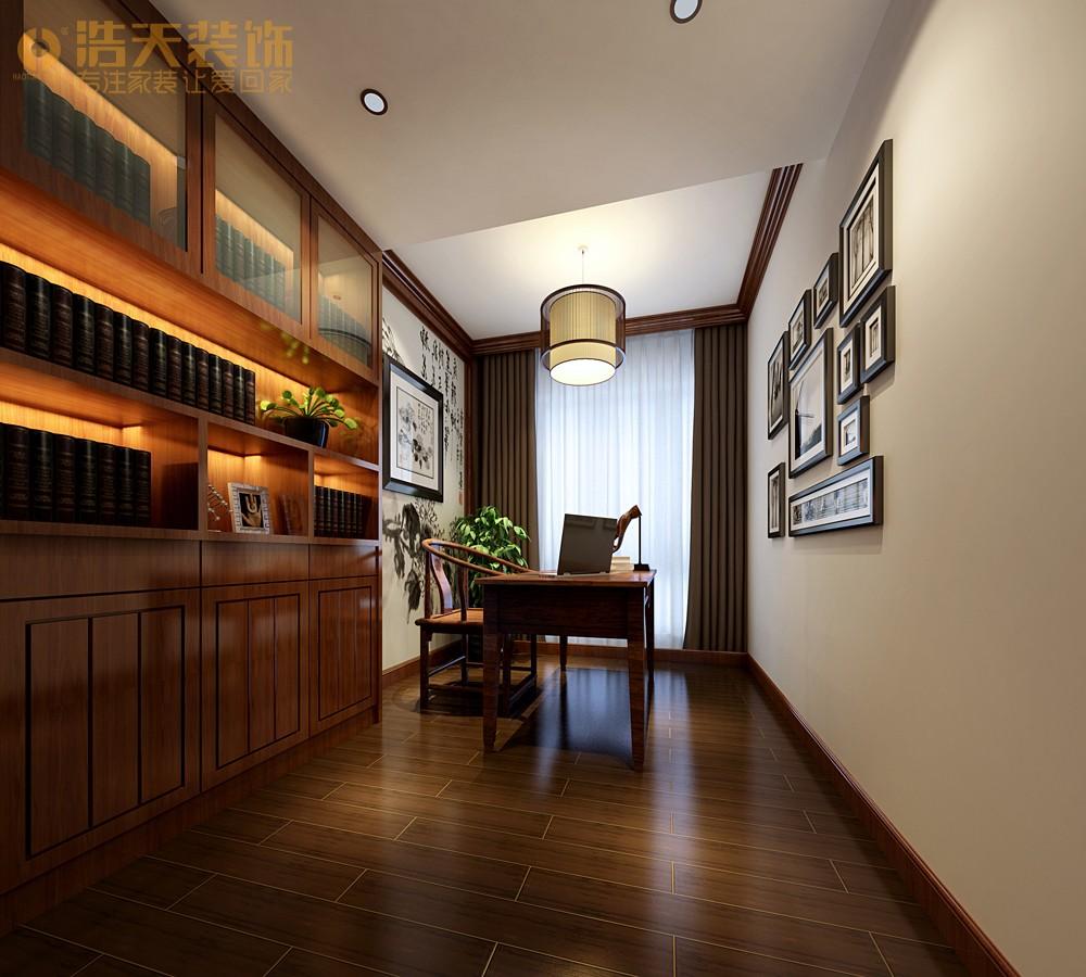 简约 书房图片来自深圳浩天装饰在浩天装饰天御-现代中式的分享