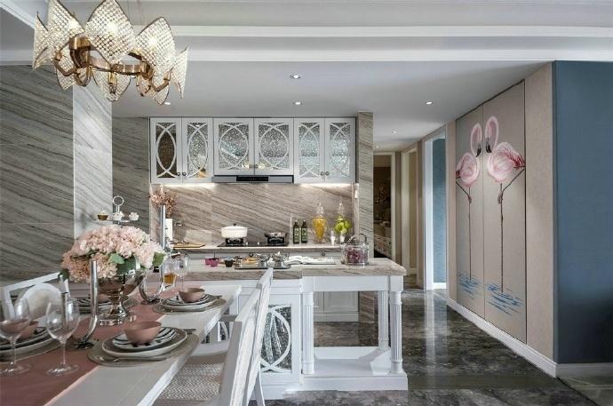 欧式 三居 厨房图片来自装饰公司18771098378在欧式的分享