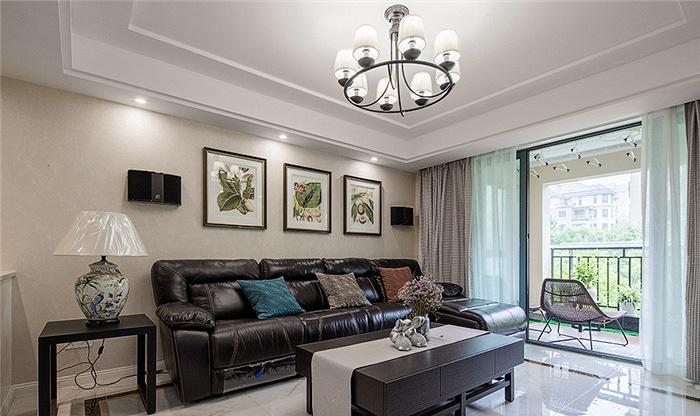 客厅图片来自家装大管家在115平现代美式3居 生活因此更美的分享
