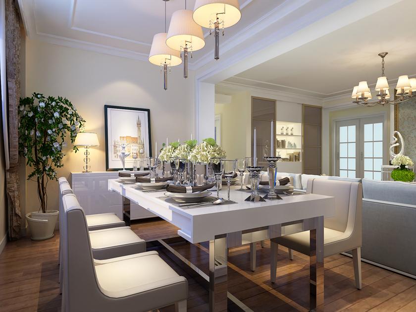 实创 三居室 简约 大尧三路 餐厅图片来自快乐彩在大尧三路130平简约装修的分享