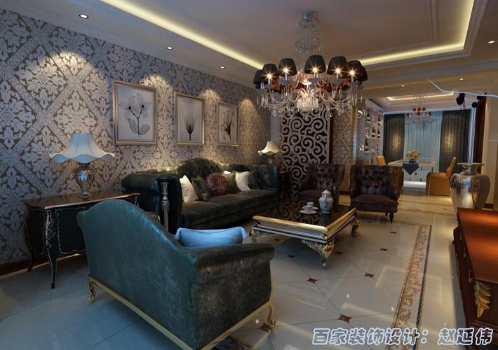 三居 广厦绿园 欧式风格 客厅图片来自百家设计小刘在广厦绿园140平欧式风格半包6.2万的分享