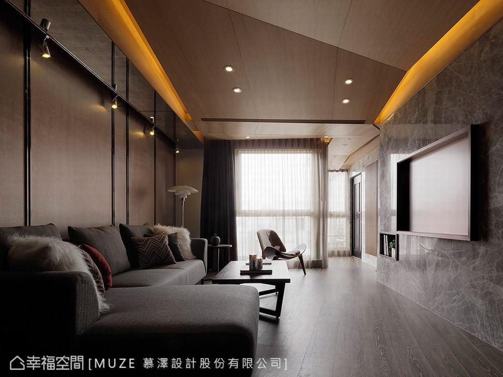 四居 现代 旧房改造 客厅图片来自幸福空间在万物意象孕育132平凌静美学的分享