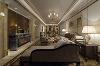 世华龙樾170平设计图-世华龙樾欧式效果图-客厅效果图 顶、壁、门窗等装饰线角变化丰富,并融入了比如罗马柱、壁炉、卷草纹、线条优美的哑口和白色木格窗等非常有代表性的欧式元素。
