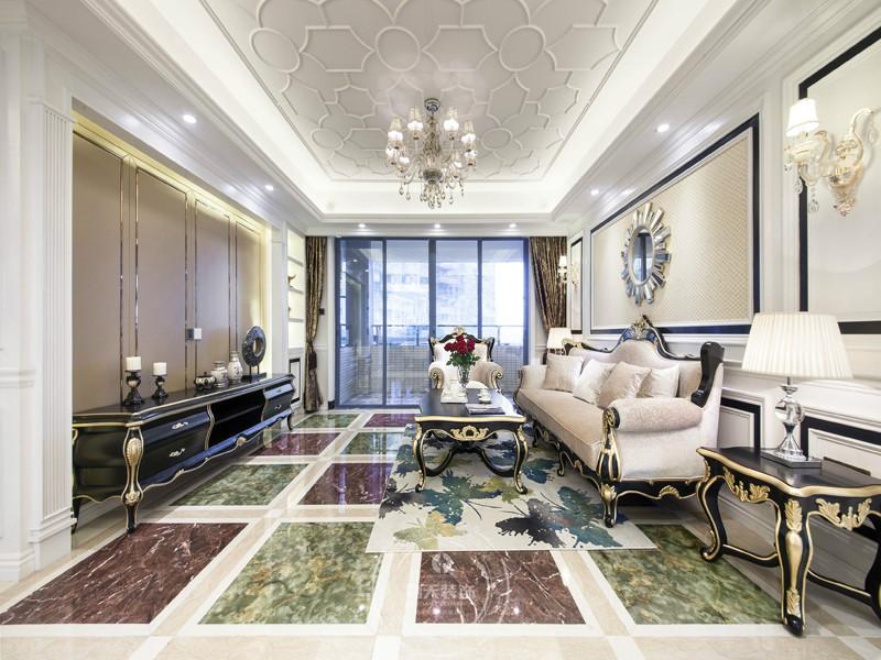 欧式 客厅图片来自深圳浩天装饰在浩天装饰-豪峰园的分享