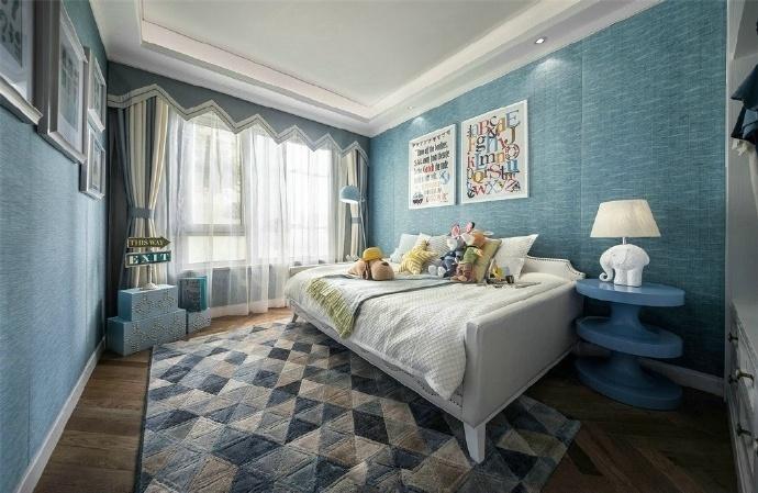 欧式 三居 卧室图片来自装饰公司18771098378在欧式的分享