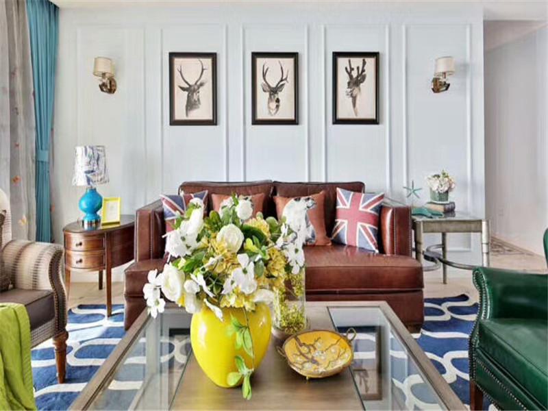 美式 三居 80后 小资 公寓 简约美式 大户型 客厅图片来自高度国际姚吉智在120平米简约美式温馨雅致三居室的分享
