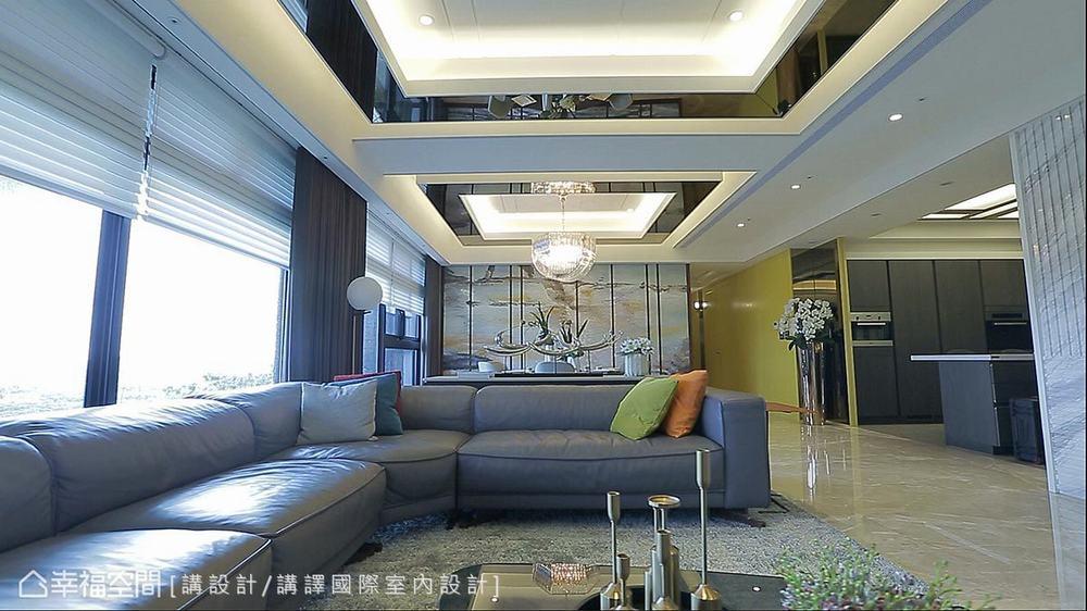 东方 四居 大户型 三代同堂 客厅图片来自幸福空间在479平新东方风三代同堂宅的分享