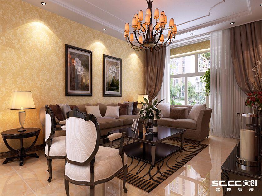 实创 银丰故里 三居 简欧 80后 客厅图片来自快乐彩在银丰故里144平三居室简欧装修的分享