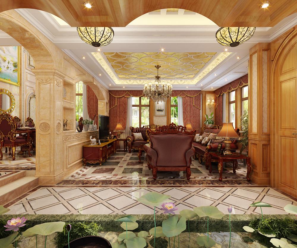 别墅 欧式 客厅图片来自石家庄家装设计师在西山御园别墅的分享