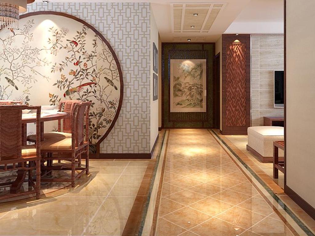 四居 中式 玄关图片来自tjsczs88在金地紫乐府的分享