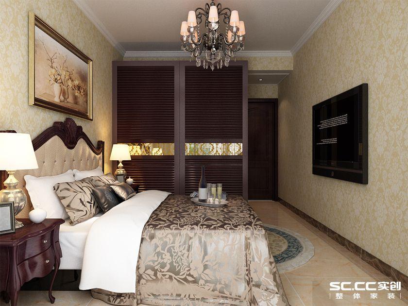 实创 银丰故里 三居 简欧 80后 卧室图片来自快乐彩在银丰故里144平三居室简欧装修的分享