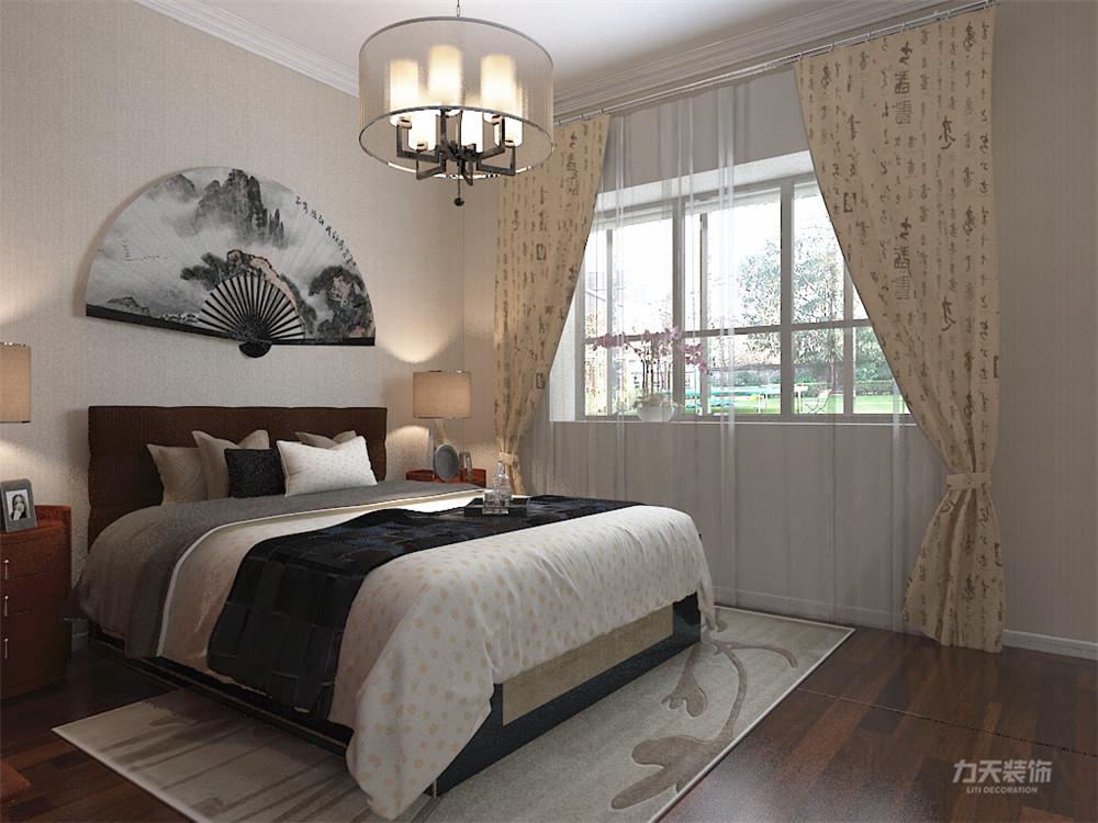 新中式 中式 二居 收纳 小资 卧室图片来自阳光力天装饰在力天装饰-奥莱城-96㎡-新中式1的分享