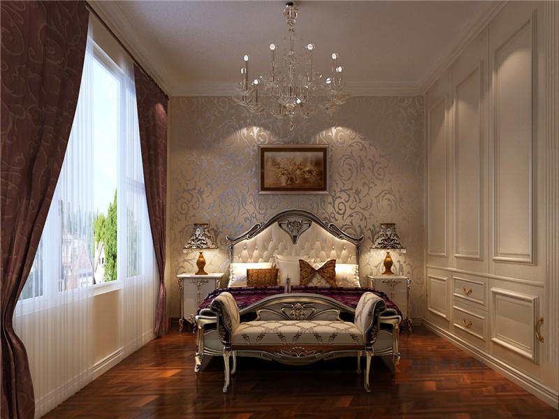 美式 三居 公寓 大户型 80后 小资 卧室图片来自高度国际姚吉智在140平米美式三居公寓张扬的奢华的分享