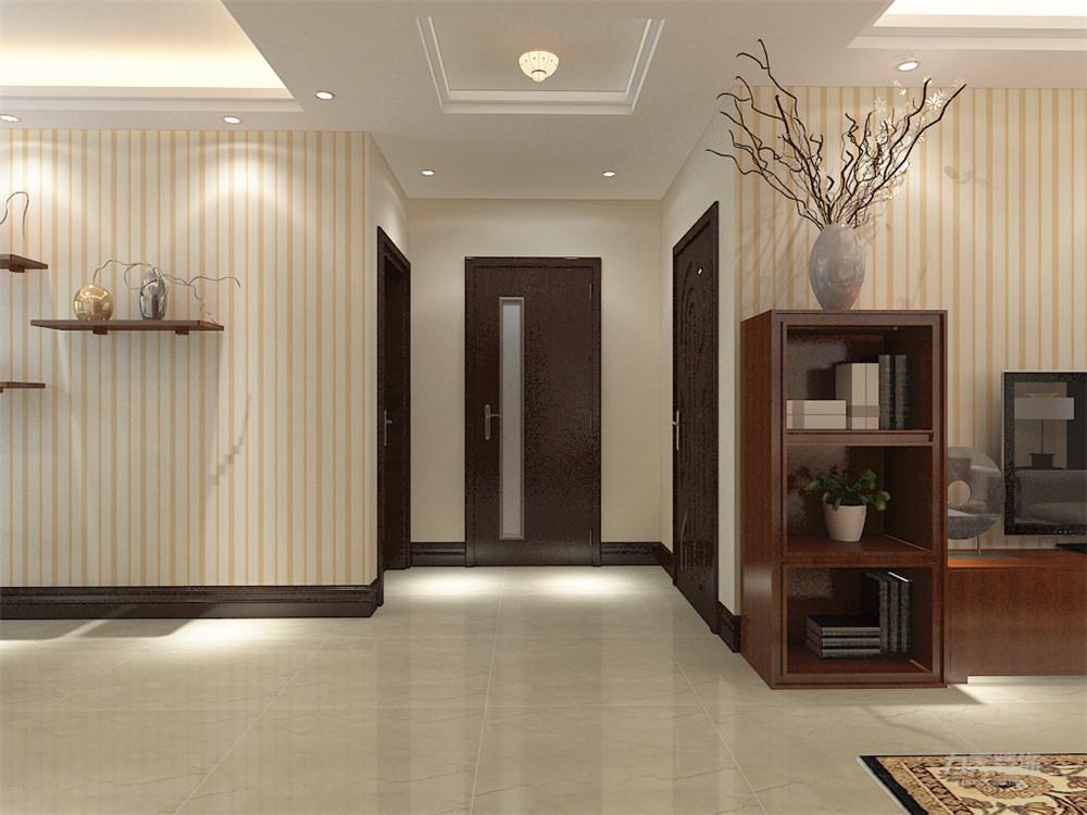 新中式 中式 二居 收纳 小资 玄关图片来自阳光力天装饰在力天装饰-奥莱城-96㎡-新中式1的分享