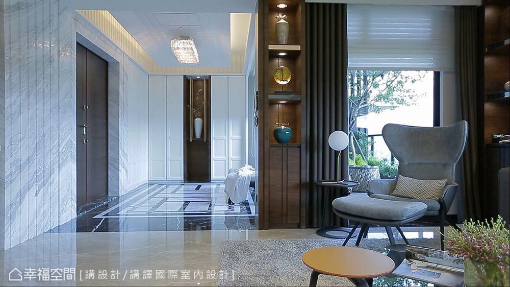 东方 四居 大户型 三代同堂 玄关图片来自幸福空间在479平新东方风三代同堂宅的分享