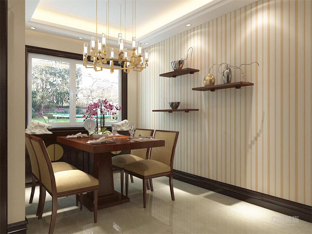 新中式 中式 二居 收纳 小资 餐厅图片来自阳光力天装饰在力天装饰-奥莱城-96㎡-新中式1的分享