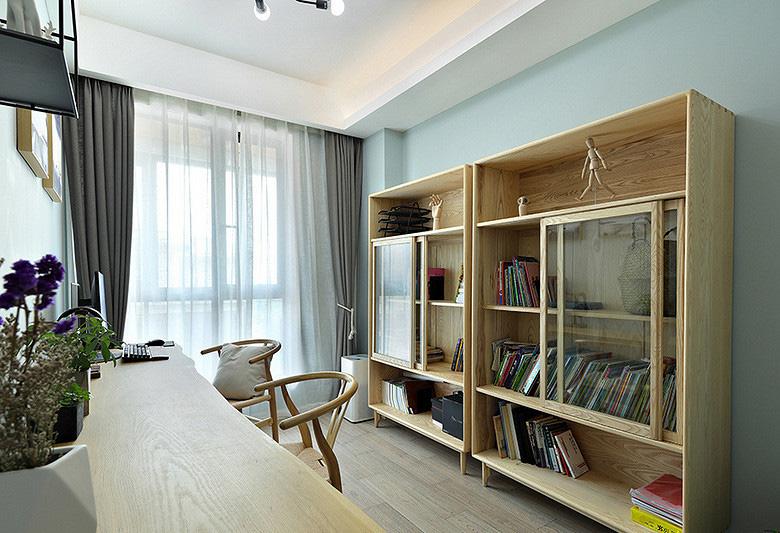 书房图片来自家装大管家在107平原木北欧3居 回归简单原味的分享