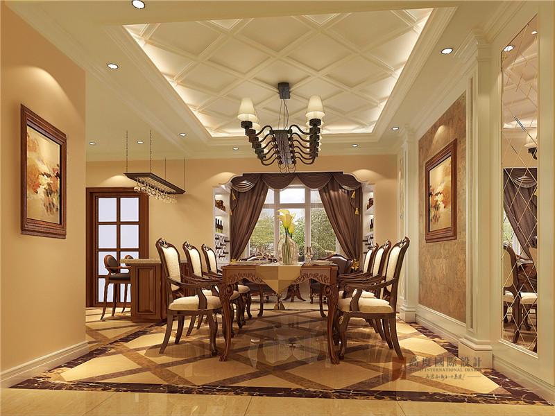 美式 三居 公寓 大户型 80后 小资 餐厅图片来自高度国际姚吉智在140平米美式三居公寓张扬的奢华的分享