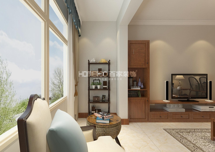 简美风格 设计 百家装饰 效果图 客厅图片来自百家装饰--小莹在简美风格设计的分享